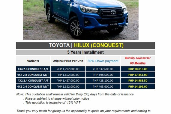 Toyota Conquest 2020 for sale in Pasig