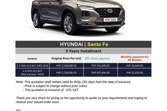 2020 Hyundai Santa Fe (We cater all brand)