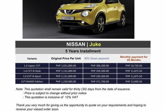 2020 Nissan JUKE (We cater all brands)