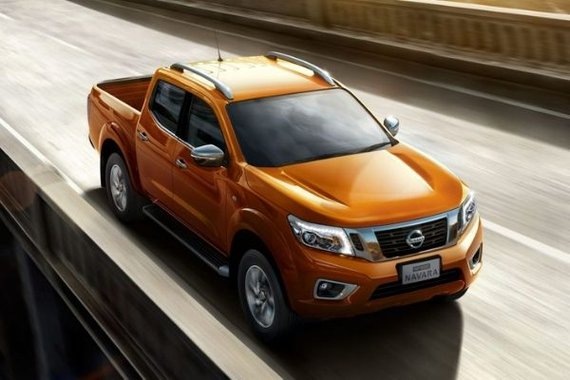 Nissan Navara on the highway.