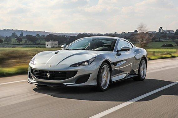 Ferrari Portofino on the road