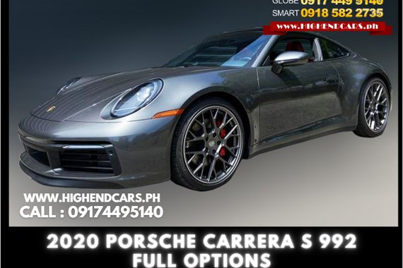 2020 PORSCHE CARRERA S 992 FULL OPTIONS