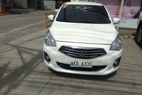 Savanna White/Mitsubishi 2016 Mirage G4 GLS 1.2G CVT/ Good price for sale in Cebu City