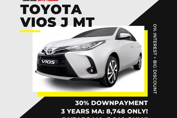 VIOS 3K MONTHLY!! 0% INTEREST + HUGE DISCOUNT