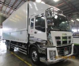 Selling Isuzu 32 feet Aluminum Wing Van Truck 10 wheel
