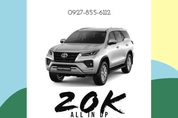 20K ALL-IN DOWNPAYMENT! FORTUNER 2021