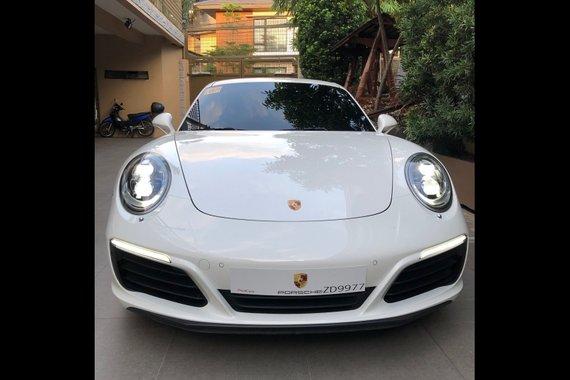 White Porsche 911 Carrera 2018 for sale in Quezon