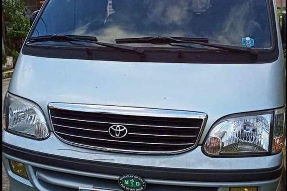 Selling Silver Toyota Hiace GL 2.0 1999 in Tanauan