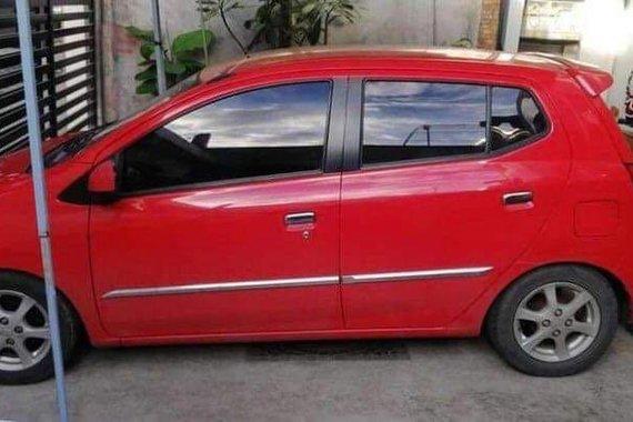 Red Toyota Wigo 2015 for sale in San Mateo