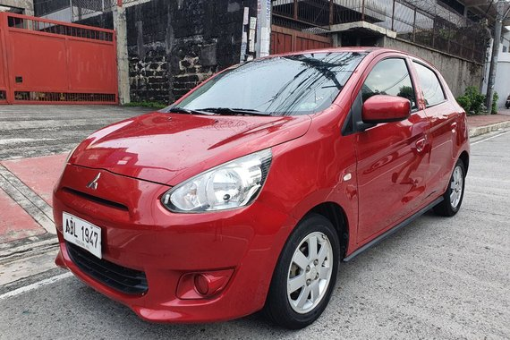 Lockdown Sale! 2015 Mitsubishi Mirage 1.2 GLX Hatchback Manual Red 46T Kms Only ABL1947