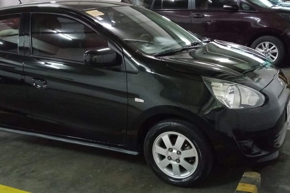 Selling Black 2015 Mitsubishi Mirage  GLX 1.2 MT
