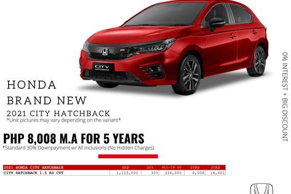 2021 Honda City Hatchback 1.5 RS CVT