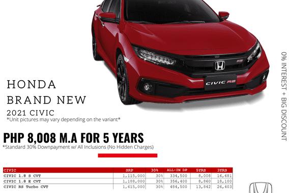 Brand New 2021 Honda Civic