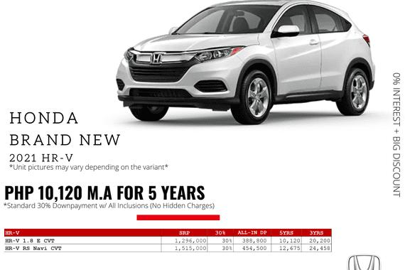 2021 Honda HR-V  1.8 E CVT