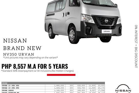 2021 Nissan NV350 Urvan 2.5 Standard 15-seater MT