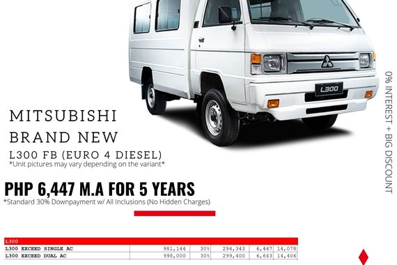 Brand New 2021 Mitsubishi L300 DUAL AC