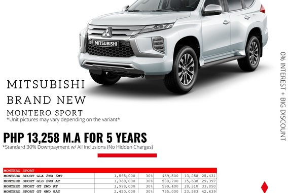 2021 Mitsubishi Montero Sport  GLS 2WD 2.4 AT