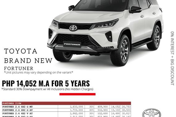 2021 Toyota Fortuner  2.4 G Diesel 4x2 AT