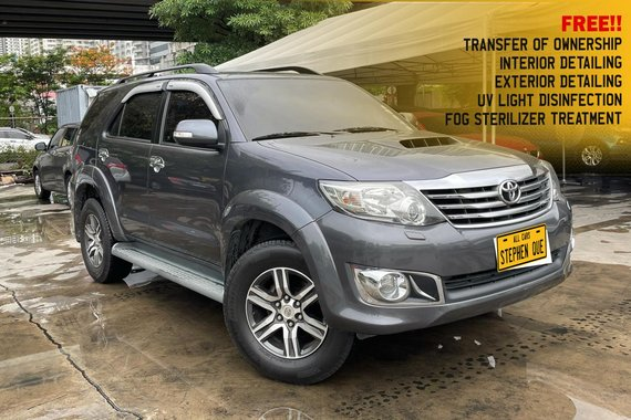 Pre-owned Grey 2013 Toyota Fortuner G A/T Diesel for sale