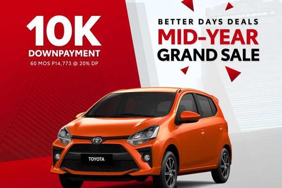 🎈🎈MID-YEAR GRAND SALE🎈🎈 Toyota Wigo 1.0 G AT