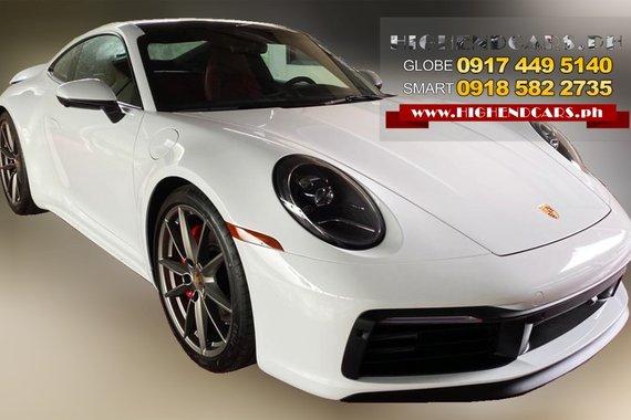 2021 Porsche 911 Carrera 4S, Brand new, White Metallic, Leather interior in Black/Bordeaux Red