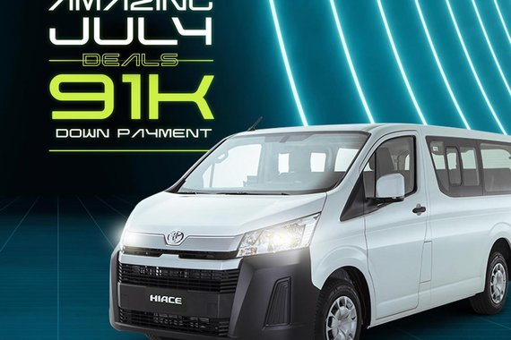 AMAZING JULY DEALS! Toyota Hiace Commuter Deluxe 2021