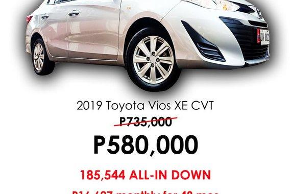 2019 TOYOTA VIOS XE 1.3L