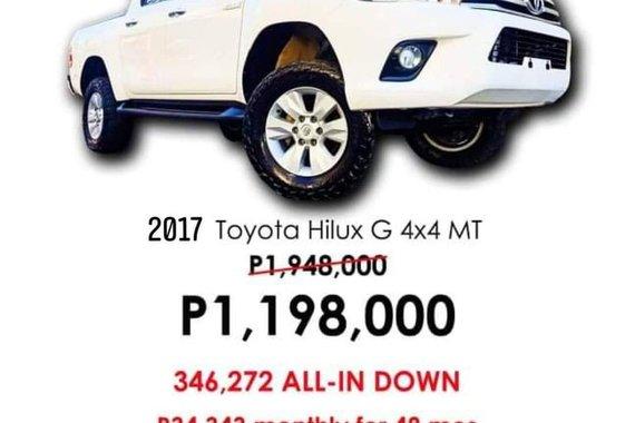 2017 Toyota Hilux G Manual 4x4