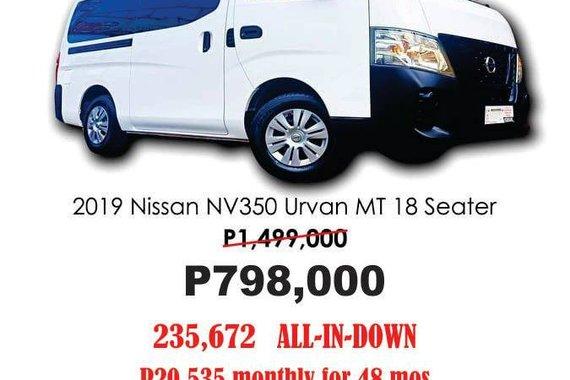 2019 Nissan NV350 Urvan 2.5L