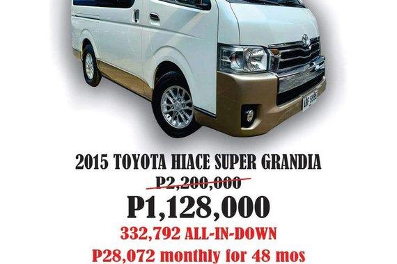 2015 Toyota Hiace Super Grandia Manual