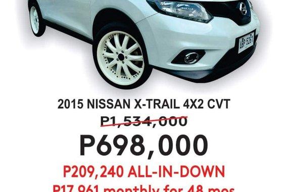 2015 NISSAN XTRAIL 4x2 CVT