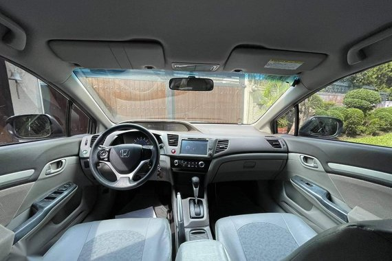 Silver Honda Civic 2013 for sale in Quezon