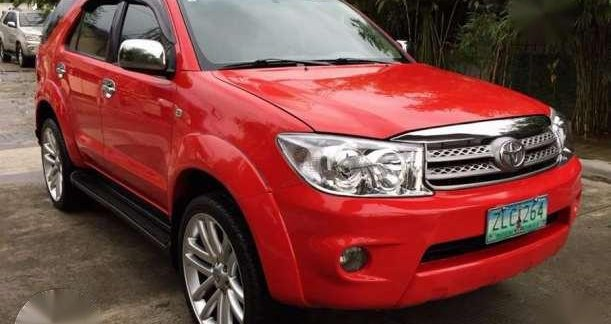 Toyota Fortuner 2007 2 5g At Red For Sale 178491