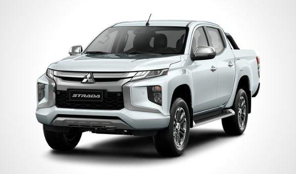 Mitsubishi Strada white front quarter philippines