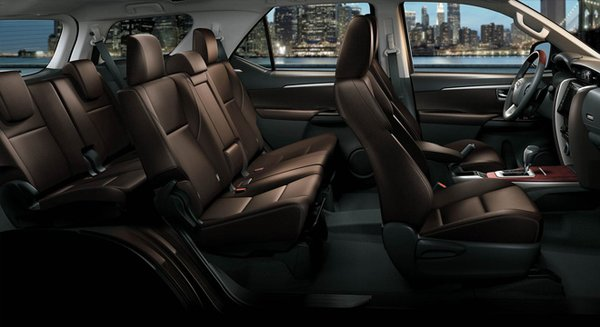 The new Toyota Fortuner's cabin