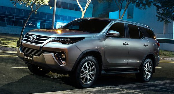 The new Toyota Fortuner's exterior