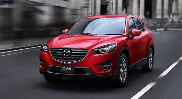 mazda cx5 2018 on the road