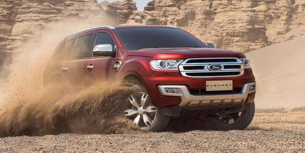 Ford Everest 2016 with the ability to cope harsh environments