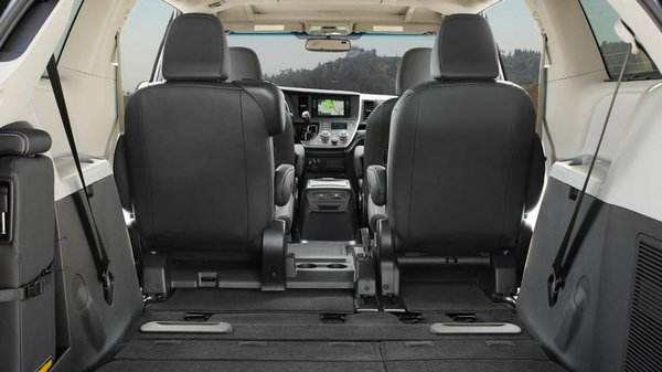 2017 Toyota Sienna's seats