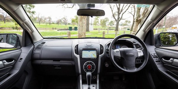 2016 Isuzu Mu-X interior with steering wheel, driving space