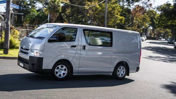 2016 Toyota HiAce running on road