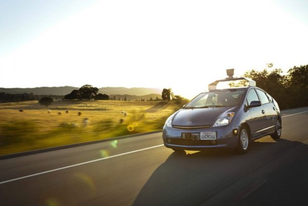 Google's self-driving car on the road