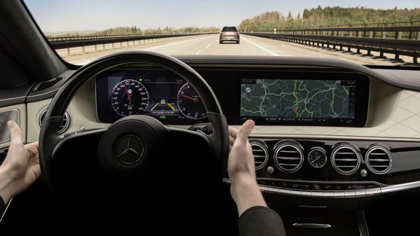 Dashboard of the new 2018 S-Class