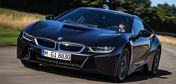 BMW car on the road